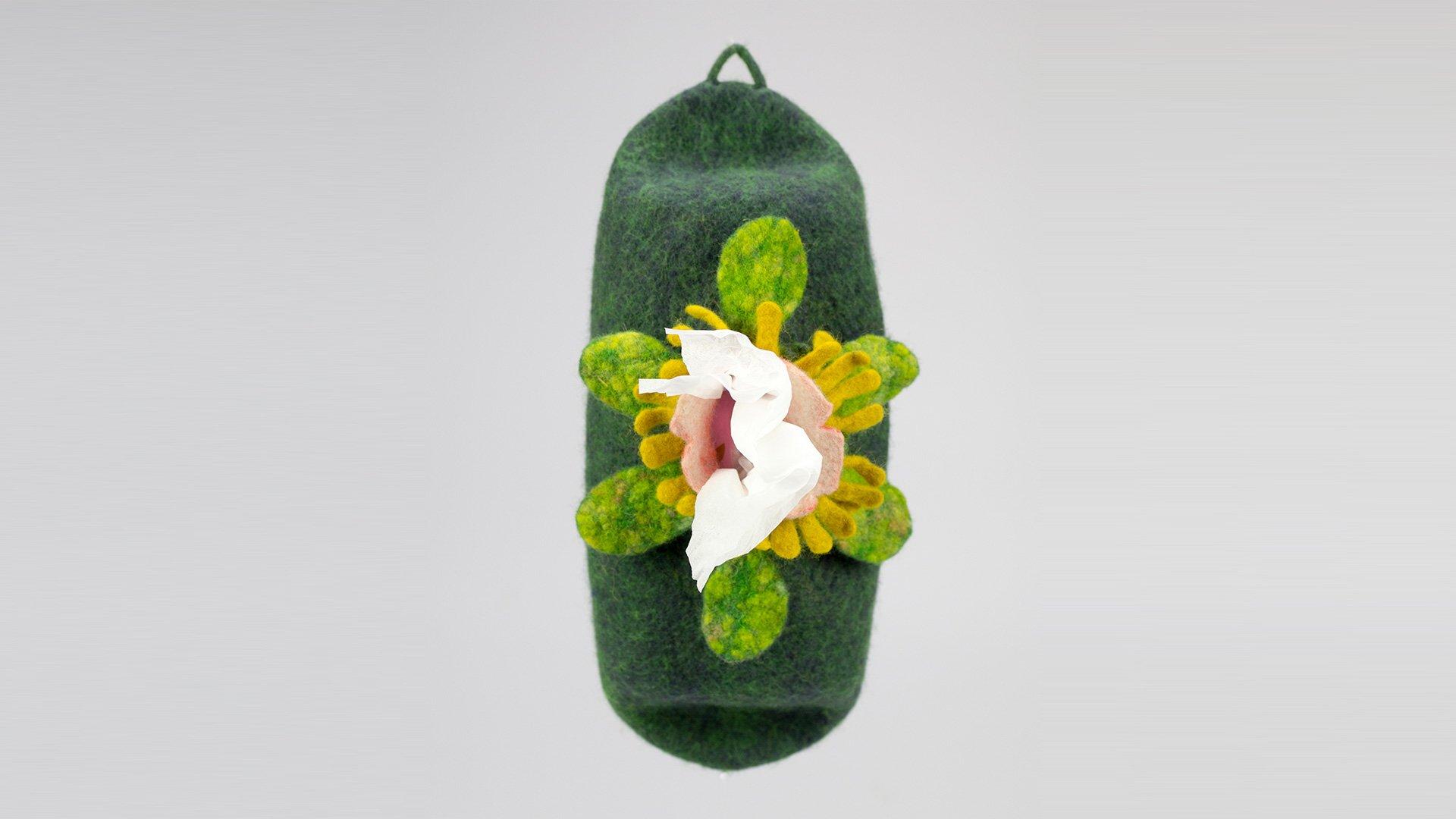 お花のティッシュホルダー